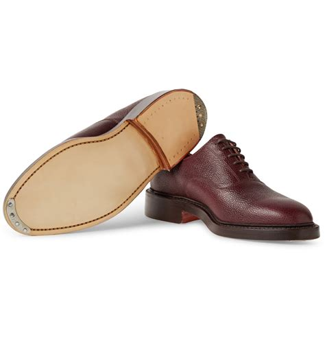 grain leather shoes thom browne pebble grain leather oxford shoes in brown for