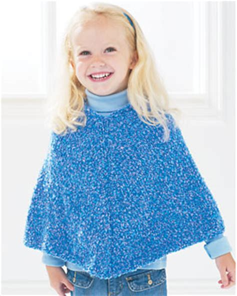 child s poncho knitting pattern easy knit poncho favecrafts