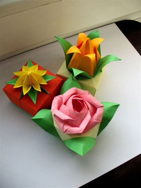 origami box flower 88 best images about origami flowers on