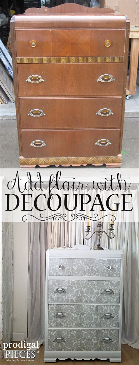 diy decoupage furniture decoupage furniture to add flair prodigal pieces