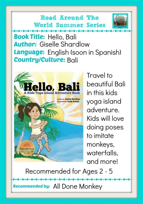 read series learn about bali with a island adventure book