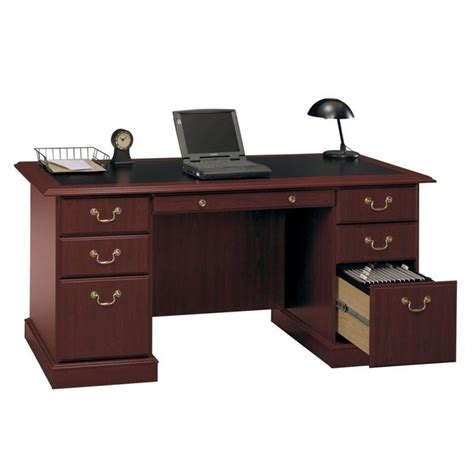 home office wood desk bush saratoga home office wood managers cherry executive