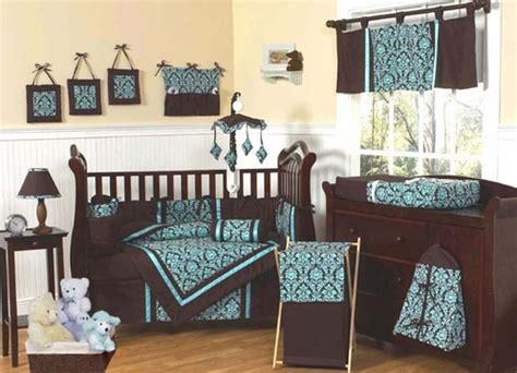 and brown crib bedding turquoise and brown baby bedding 9 pc crib set