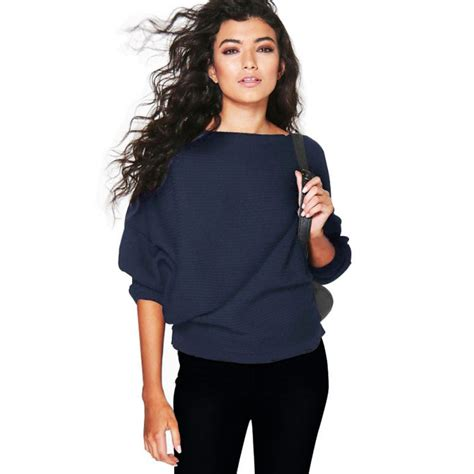 oversized knit pullover autumn oversized tops knit batwing pullover jumper