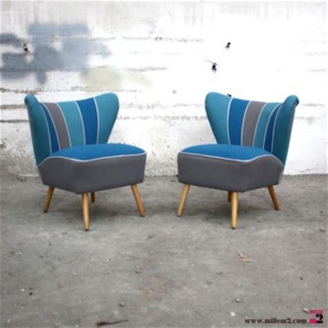 fauteuil cocktail vintage des 233 es 50 bleu gris mille m2