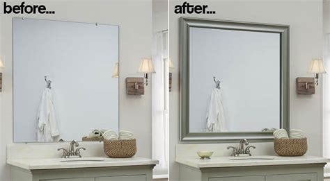 mirror frames bathroom bathroom mirror frames 2 easy to install sources a diy
