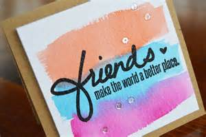 how to make friendship cards distress ink watercolor friendship card