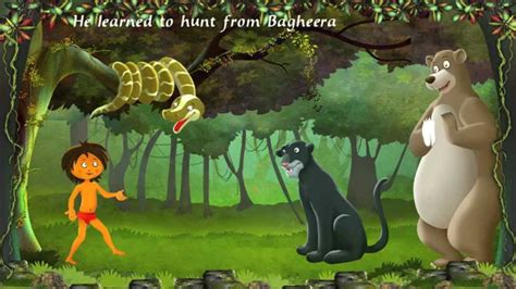 jungle book story with pictures jungle book an interactive story book for childern in
