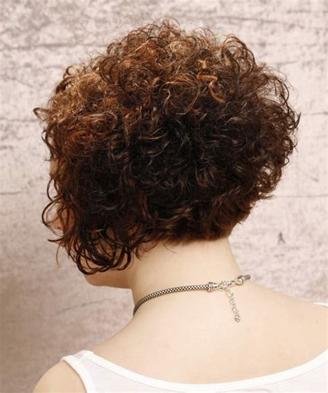 stacked bob haircut pictures curly hair short curly hairstyles back view google search cute