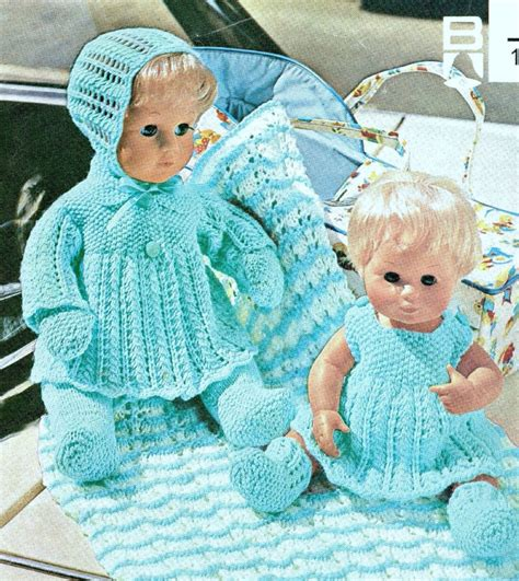 free 12 inch doll knitting patterns baby dolls clothes 12 16 quot knitting pattern layette