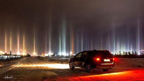 light pillars light pillar phenomenon starts again and mystifies novy