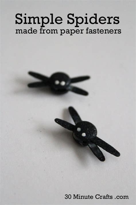 paper fastener crafts brad spiders 30 minute crafts