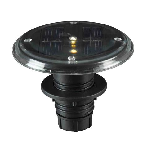 solar outdoor lights home depot kenroy home 3 5 in integrated outdoor solar black deck