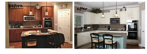 spray painting kitchen cabinets before and after painted cabinets nashville tn before and after photos