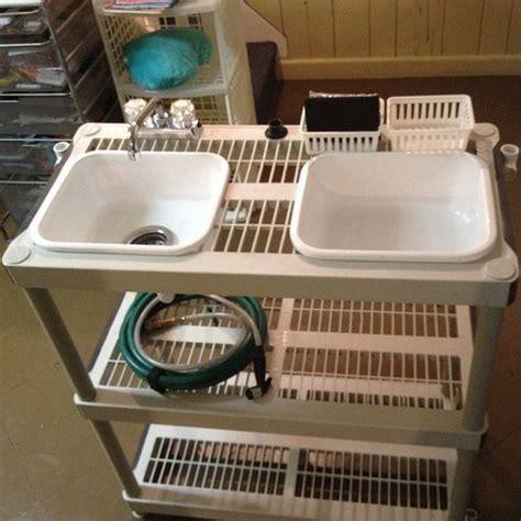 diy kitchen sink diy cing kitchen with faucet cer