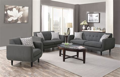 grey living room furniture set stansall grey living room set 505201 coaster