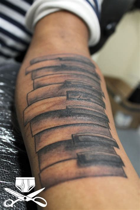 piano tattoo and musical note tattoos find a tattoo blog