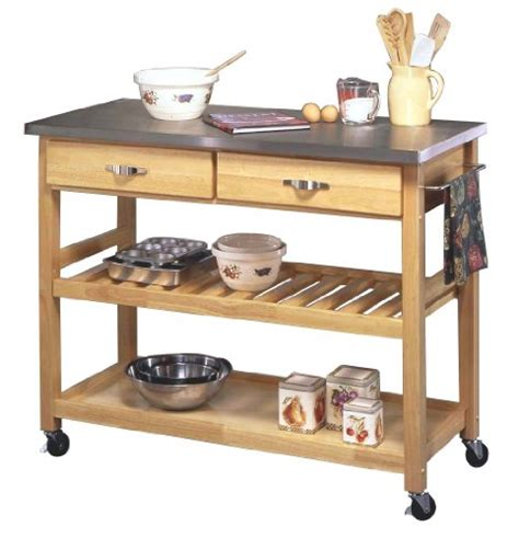 Homestyles Kitchen Island rolling kitchen island with stainless steel top