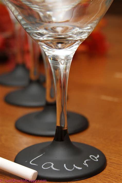 diy chalkboard label wine glasses chalkboard paint wine glasses the diy