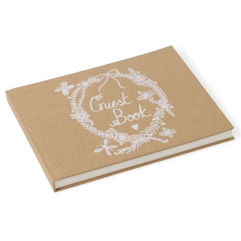 guest book picture kraft wedding guest book paperchase