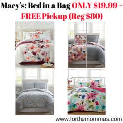 macy s bed macy s bed in a bag only 19 99 free reg 80