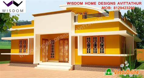 home design plans for 900 sq ft kerala modern style home design 900 square