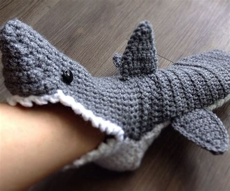 knitted shark booties image gallery shark slippers