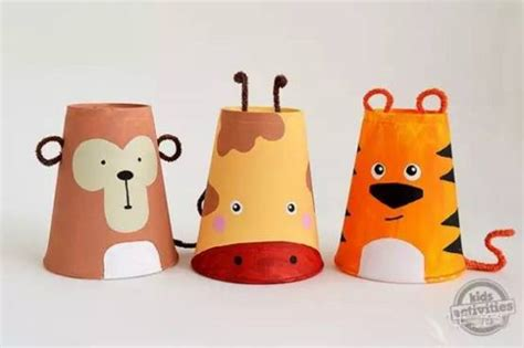paper cup crafts for paper cup craft animal ideas and craft projects