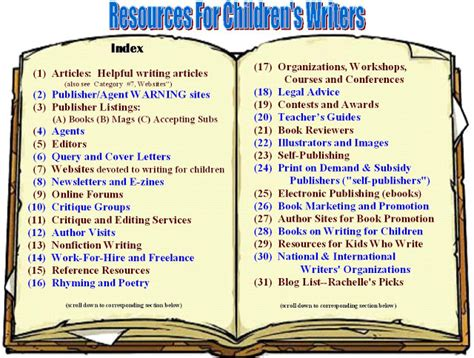 writing a children s picture book resources for children s writers