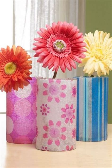 tissue paper decoupage tissue paper decoupage vases use photo printed on tissue