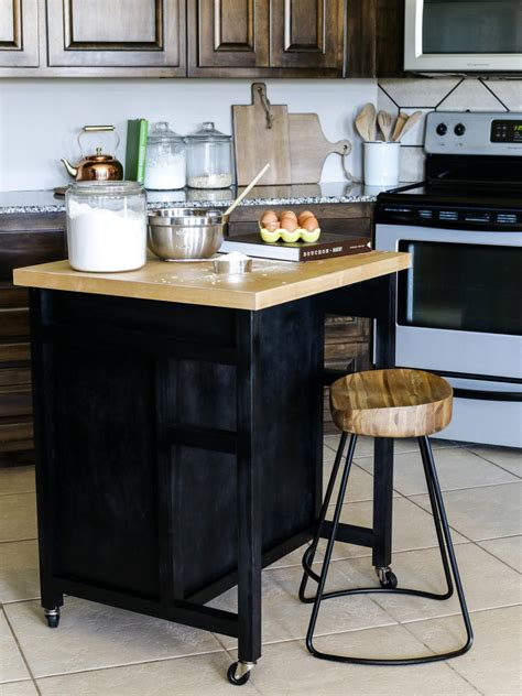 how is a kitchen island how to build a diy kitchen island on wheels hgtv