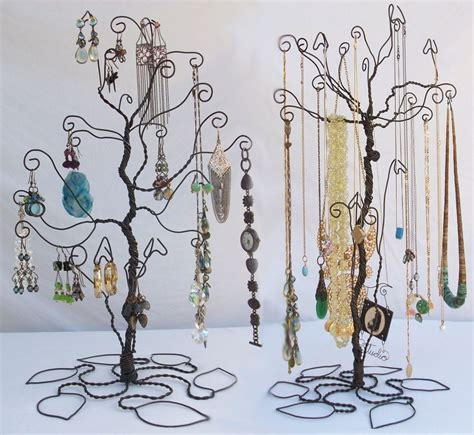 how to make a wire jewelry tree wire tree stand jewelry display holder set earring