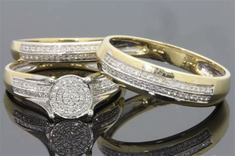 cheap wedding rings sets for him and