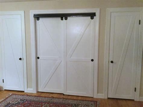 barn door closet remodelaholic how to make bypass closet doors into