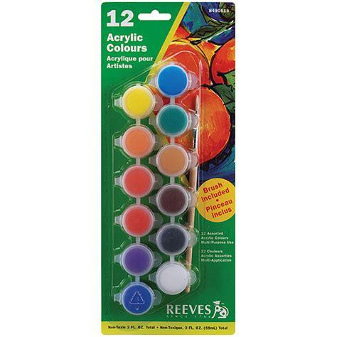 acrylic paint set walmart reeves acrylic paint set 12pk walmart