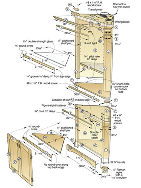 corner cabinet woodworking plans pdf diy corner display plans