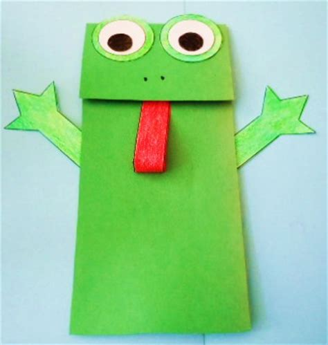 puppet craft for learning ideas grades k 8 frog paper bag puppet crafts