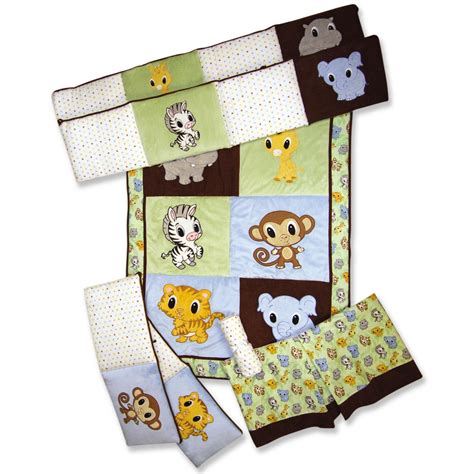 zoo crib bedding set chibi zoo crib bedding set trend lab interiordecorating