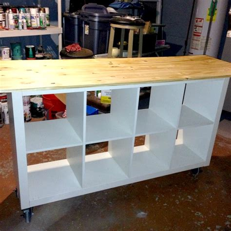 ikea craft table ikea hack diy work table using ikea bookcase astral riles