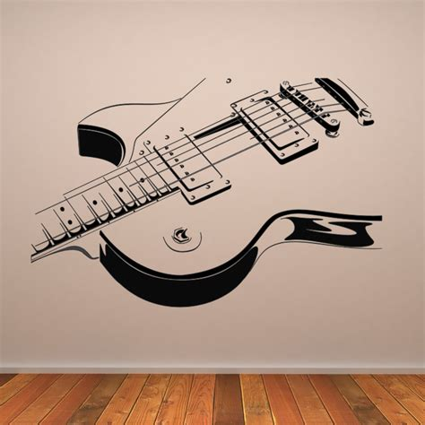 electric guitar wall decals wall stickers transfers