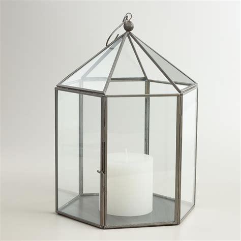 metal lantern antique zinc metal lantern world market