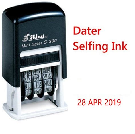 self ink rubber st price shiny s300 mini self inking rubber mini date st chop 3