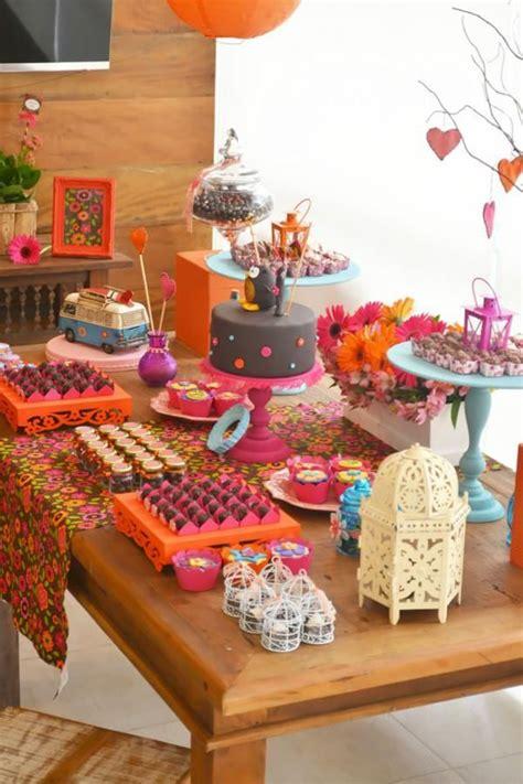 decoracion para fiesta hippie fiesta hippie de los 60 s para chicas http