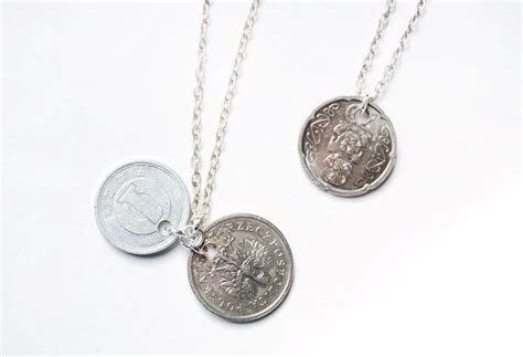 how to make coin jewelry diy foreign coin necklace crafts