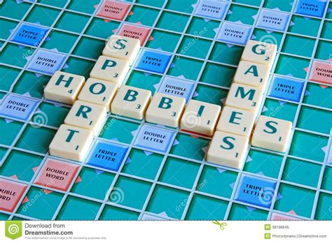 play scrabble with computer free scrabble board hobbies stock image image 38198845