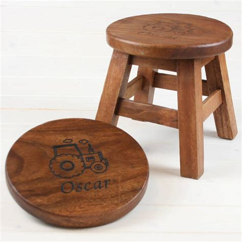 wooden for children personalised wooden stool for children by when i was a kid