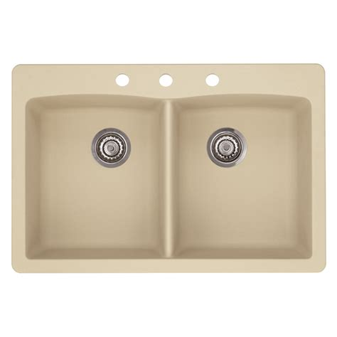 blanco granite kitchen sinks shop blanco 22 in x 33 in biscotti basin