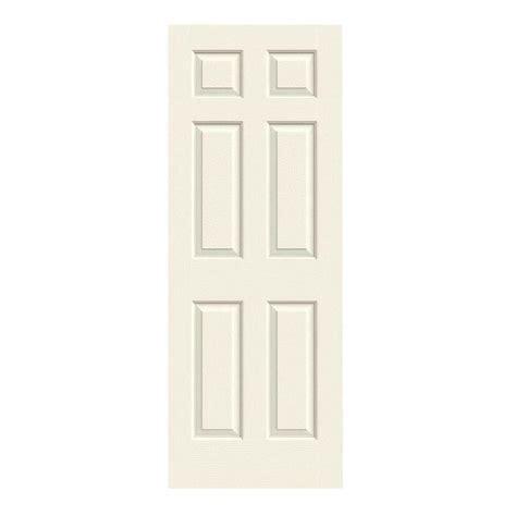 interior panel doors home depot jeld wen 28 in x 80 in colonist vanilla painted textured molded composite mdf interior door
