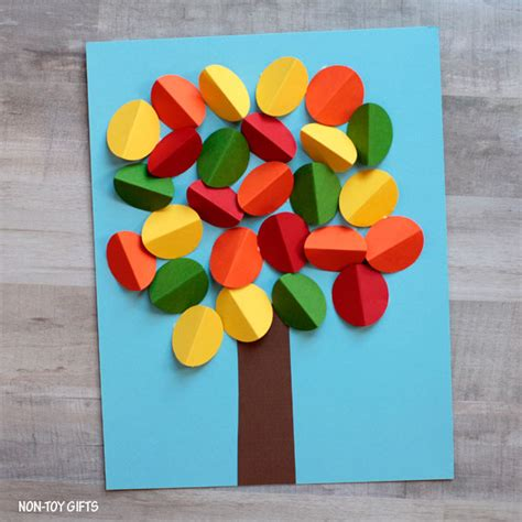 3d paper crafts for 3d paper autumn tree craft non gifts