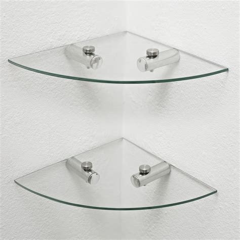 glass corner shelves bathroom wilko glass corner shelves 2pk at wilko